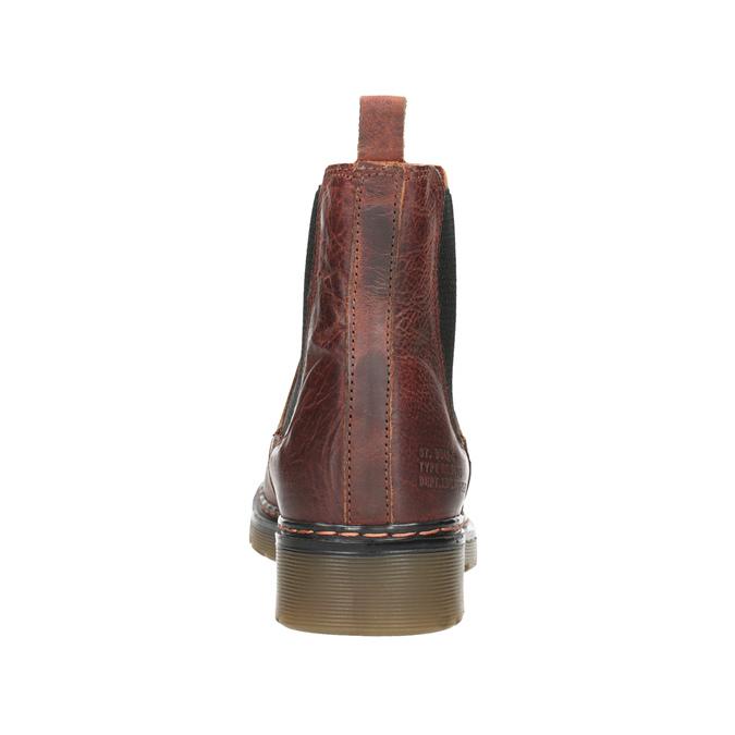 Kožená dámska Chelsea obuv bata, hnedá, 596-3680 - 16