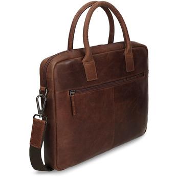 Kožená pánska taška s prešívaním bata, hnedá, 964-4139 - 13