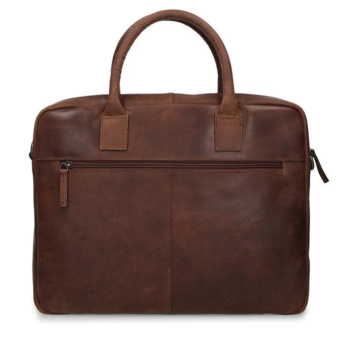 Kožená pánska taška s prešívaním bata, hnedá, 964-4139 - 26