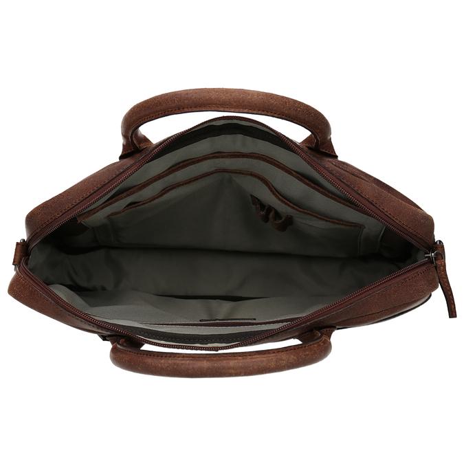 Kožená pánska taška s prešívaním bata, hnedá, 964-4139 - 15