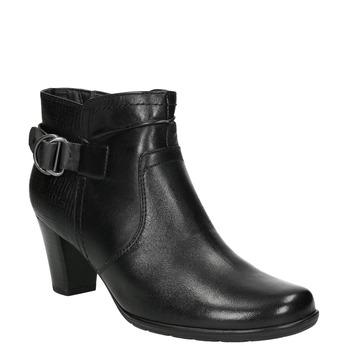 Členková obuv šírky H bata, čierna, 696-6625 - 13