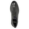Kožená členková obuv so štruktúrou bata, šedá, 826-2616 - 26