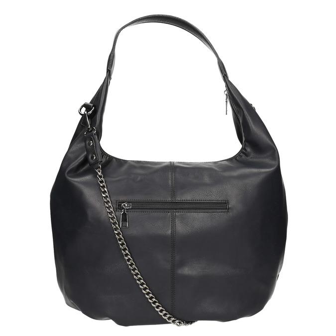 Hobo kabelka s retiazkou bata, čierna, 961-6765 - 26