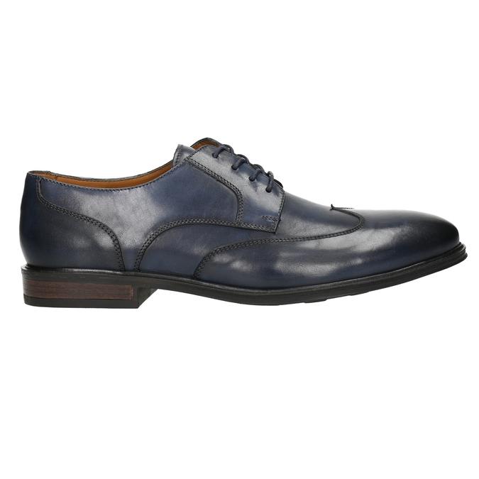 Modré kožené pánske poltopánky bata, modrá, 826-9914 - 15