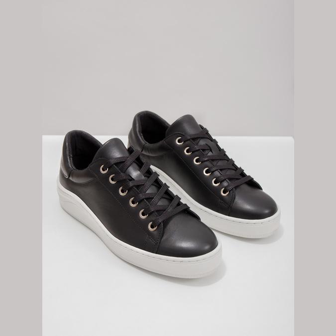 Kožené tenisky s výraznou podrážkou bata, čierna, 526-6641 - 14