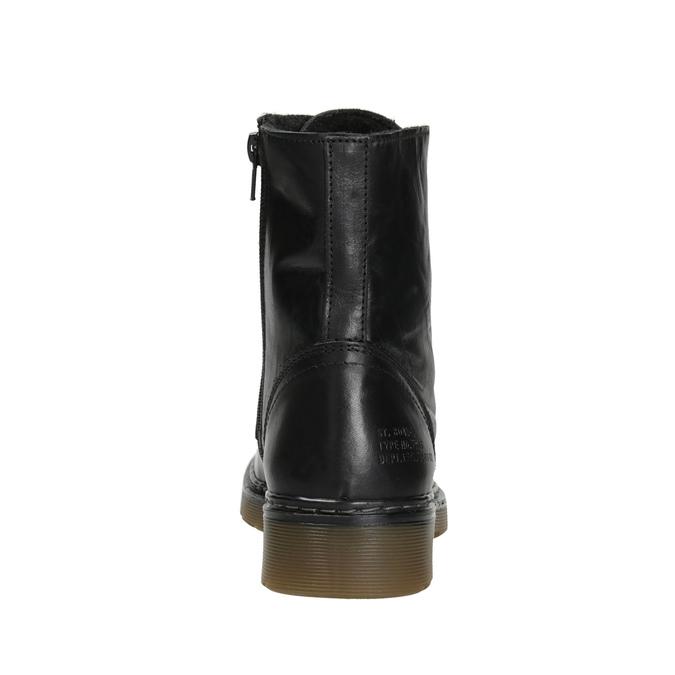 Kožená dámska členková obuv bata, čierna, 594-6681 - 16