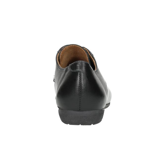 Dámske kožené poltopánky bata, čierna, 526-6635 - 16