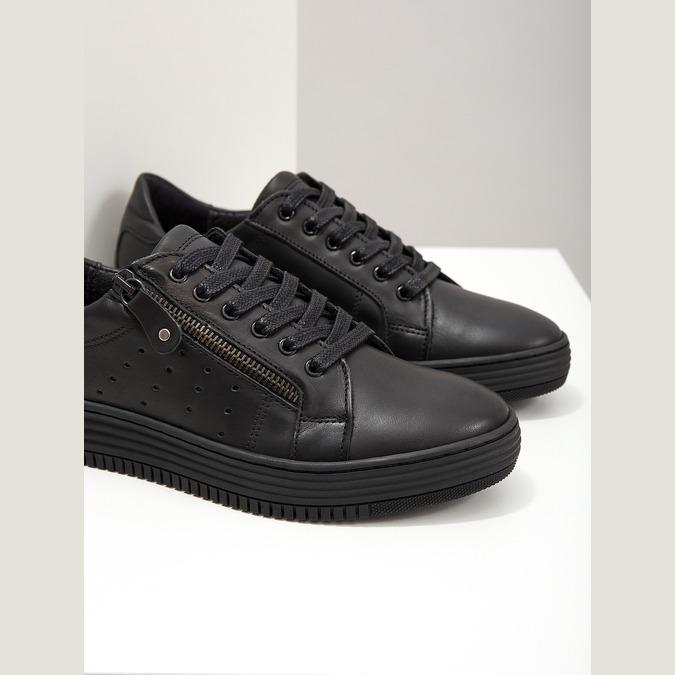 Dámske kožené tenisky bata, čierna, 526-6630 - 14