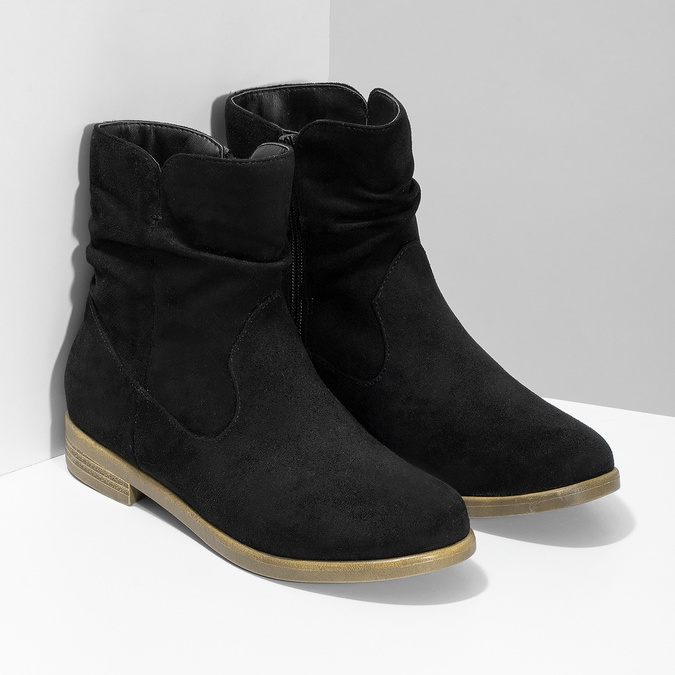 Dámské členkové čižmy bata, čierna, 599-6614 - 26