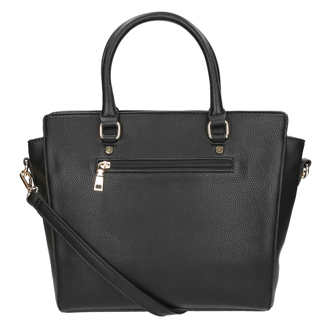 Čierna dámska kabelka s popruhom bata, čierna, 961-6822 - 26