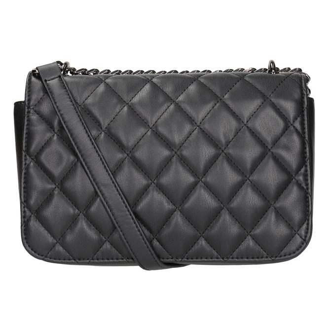 Čierna prešívaná Crossbody kabelka bata, čierna, 961-6141 - 16