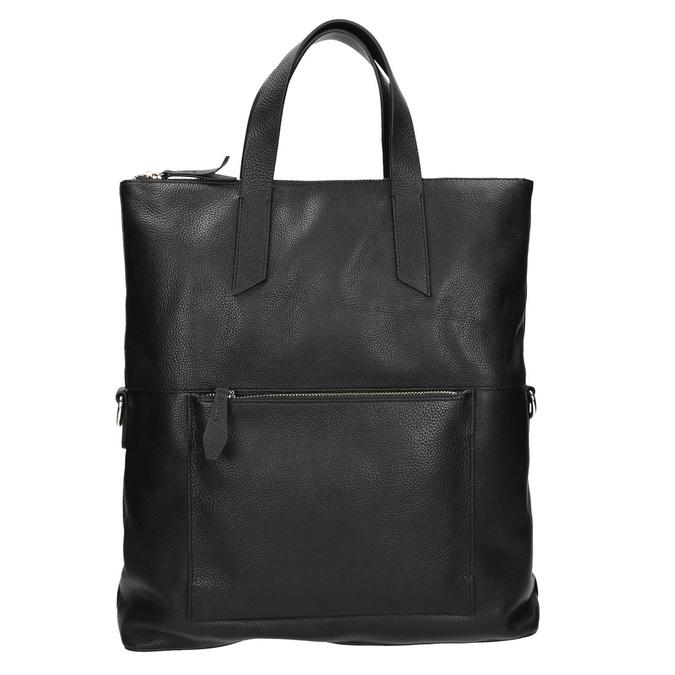 Čierna kožená kabelka bata, čierna, 964-6280 - 17