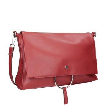 Červená listová kabelka s retiazkou bata, červená, 961-5164 - 13