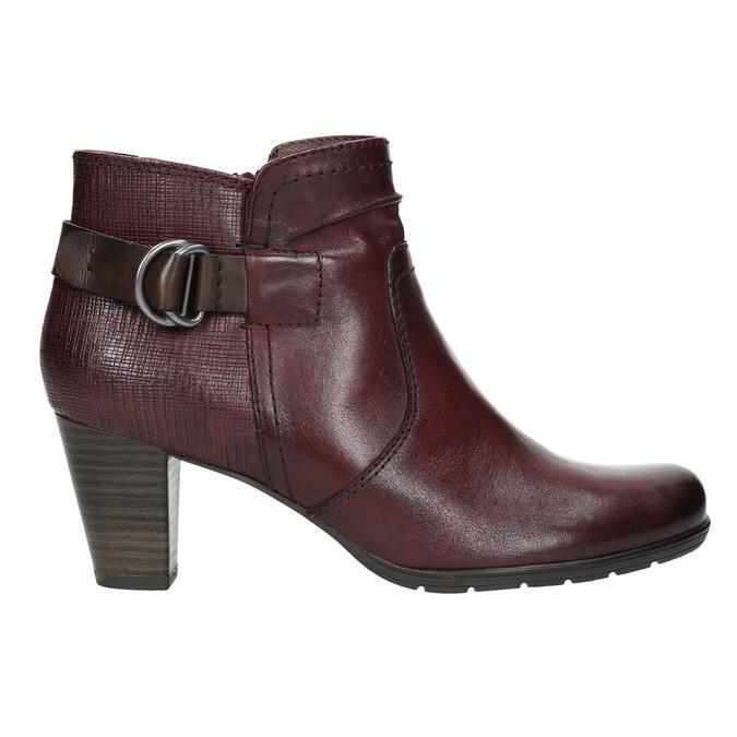 Členková obuv šírky H bata, červená, 696-5625 - 15