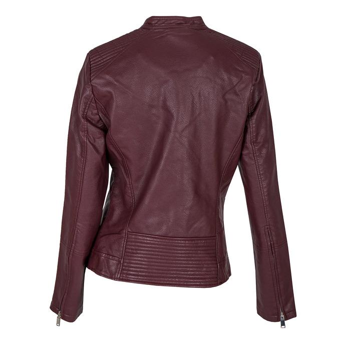 Vínová koženková bunda bata, červená, 971-5203 - 26