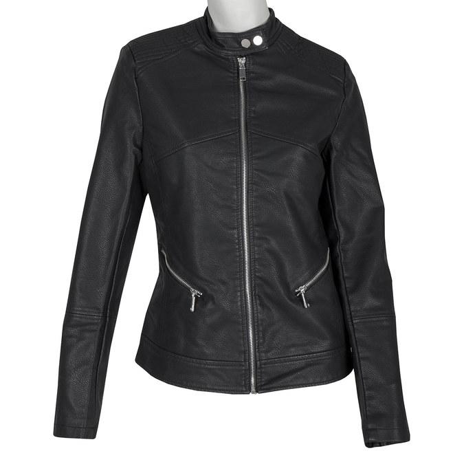 Koženková dámska bunda bata, čierna, 971-6203 - 13