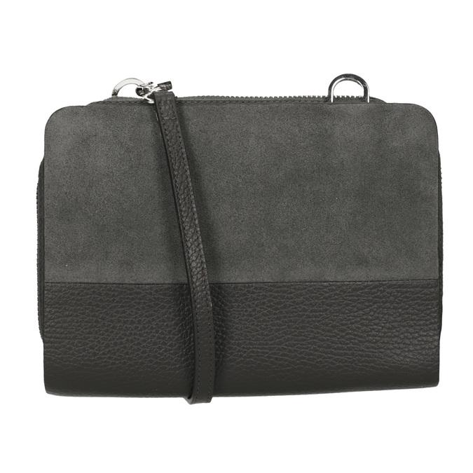 Kožená dámska Crossbody kabelka royal-republiq, šedá, 963-2050 - 16