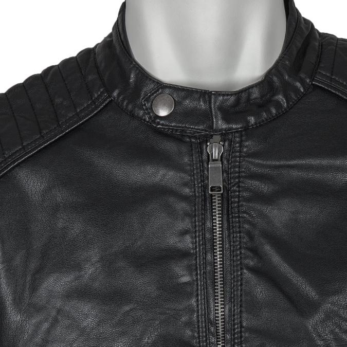 Pánska bunda s prešitím bata, čierna, 971-6103 - 16