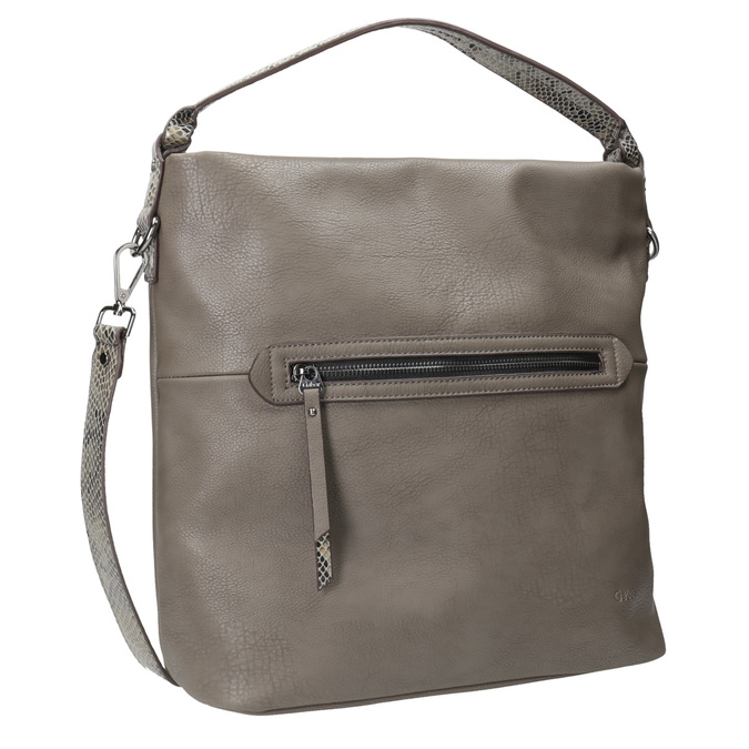 Dámska Hobo kabelka s popruhom gabor-bags, hnedá, 961-8029 - 13