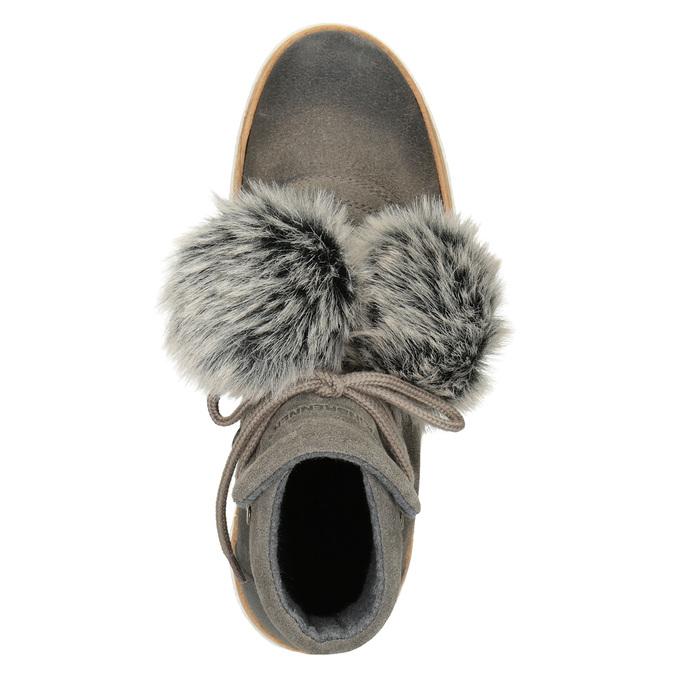 Dámska zimná obuv so šnurovaním weinbrenner, šedá, 596-2674 - 15