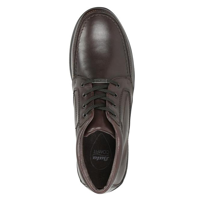 Kožená pánska zimná obuv comfit, hnedá, 894-4686 - 26