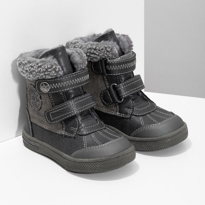 Detská zimná obuv so zateplením bubblegummers, šedá, 191-4619 - 26