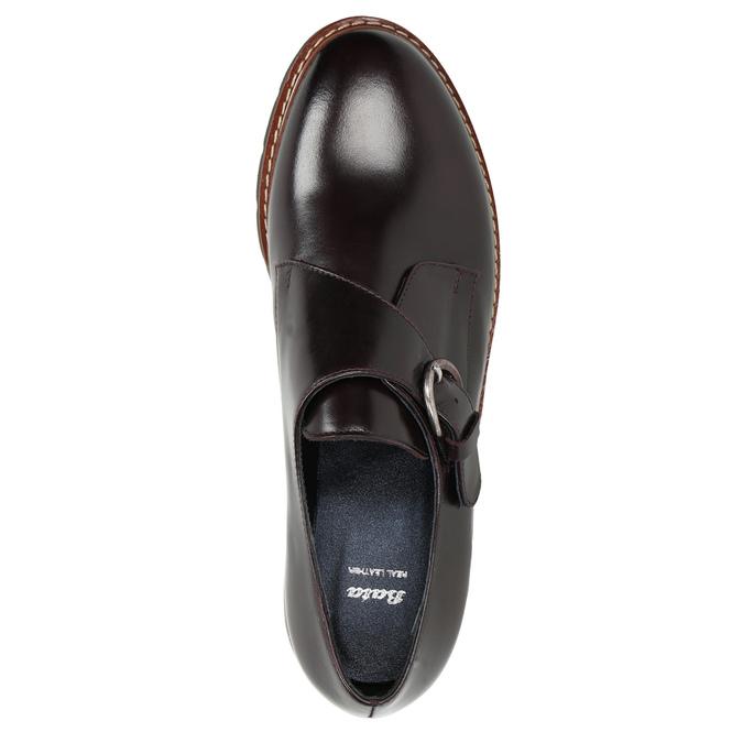 Dámske kožené Monk Shoes bata, červená, 516-5611 - 26