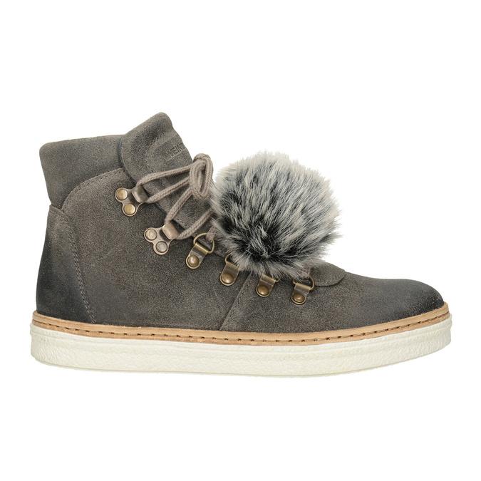 Dámska zimná obuv so šnurovaním weinbrenner, šedá, 596-2674 - 26