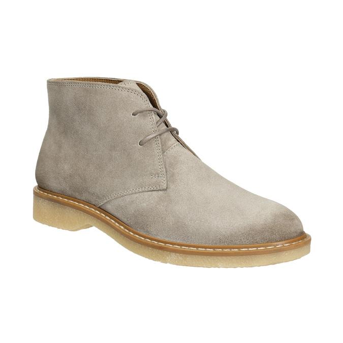 Dámske kožené Desert Boots bata, šedá, 593-2608 - 13