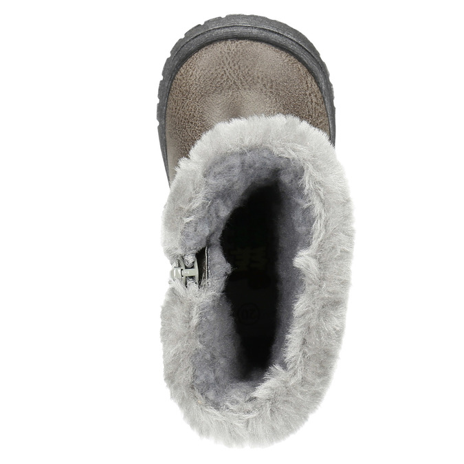 Detská zimná obuv s kožúškom bubblegummers, šedá, 191-2620 - 19
