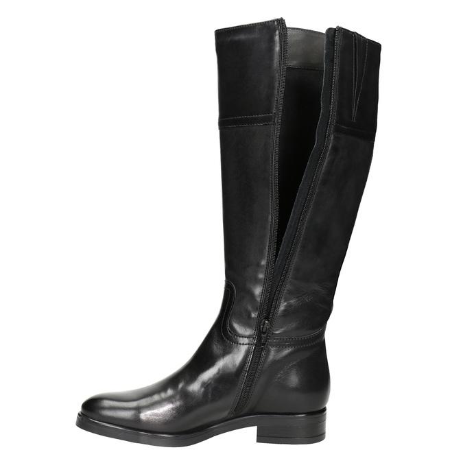 Kožené dámske čižmy bata, čierna, 594-6606 - 15