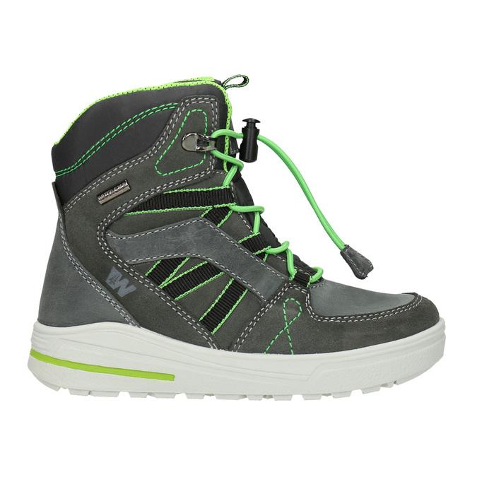Kožené detské zimné topánky weinbrenner-junior, šedá, 493-2613 - 26