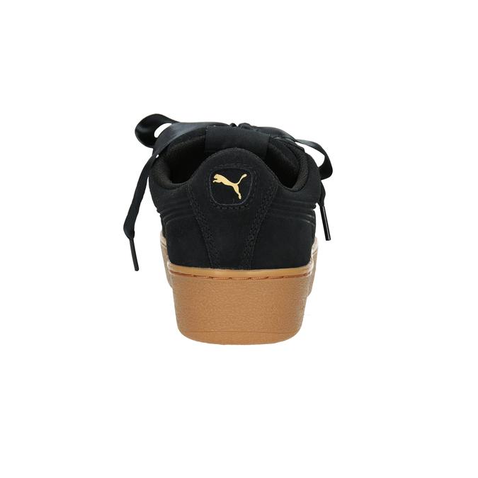 Dámske kožené tenisky puma, čierna, 503-6169 - 16