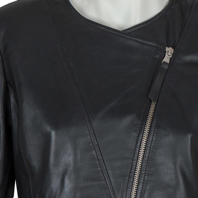 Dámska kožená bunda bata, čierna, 974-6177 - 16