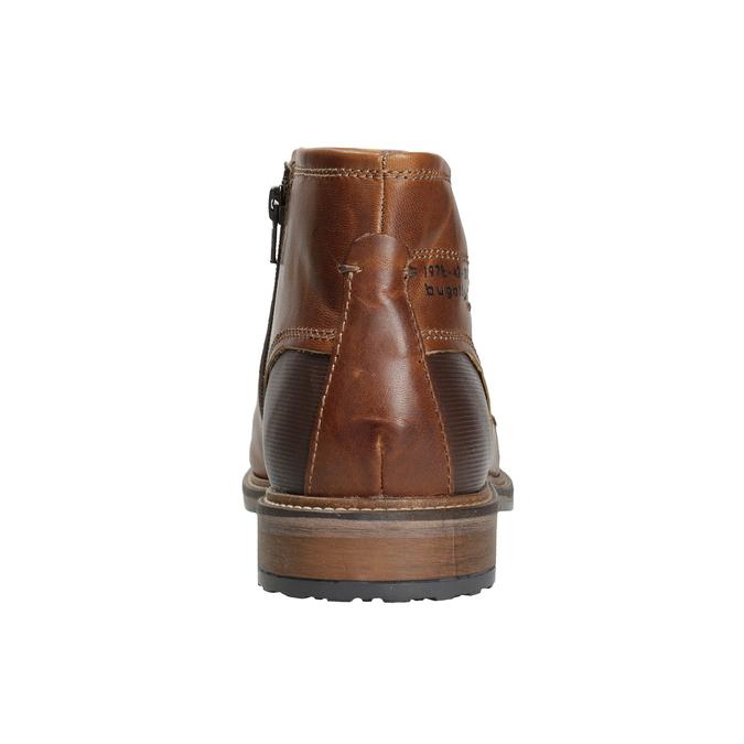 Pánska kožená členková obuv bugatti, hnedá, 816-4044 - 16