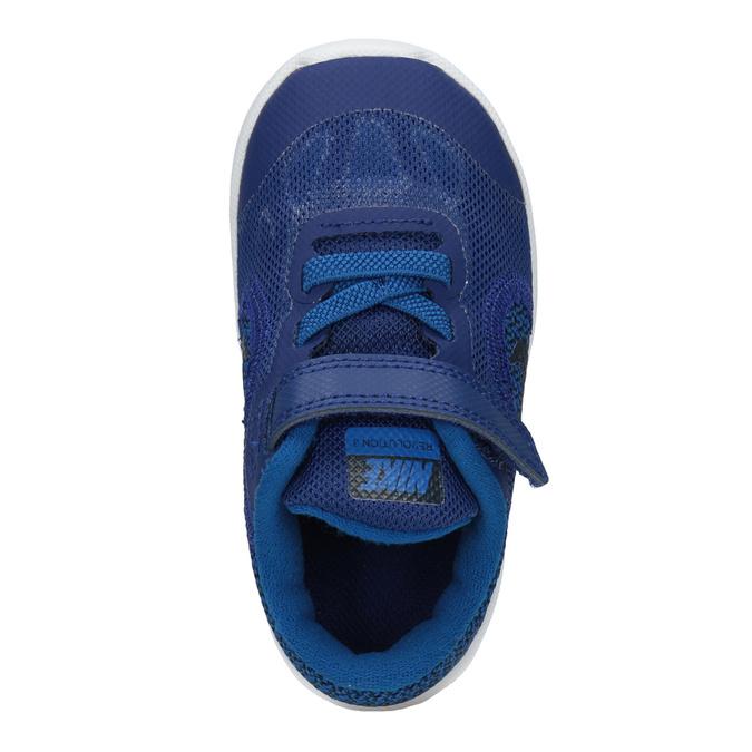 Modré detské tenisky nike, modrá, 109-9132 - 15