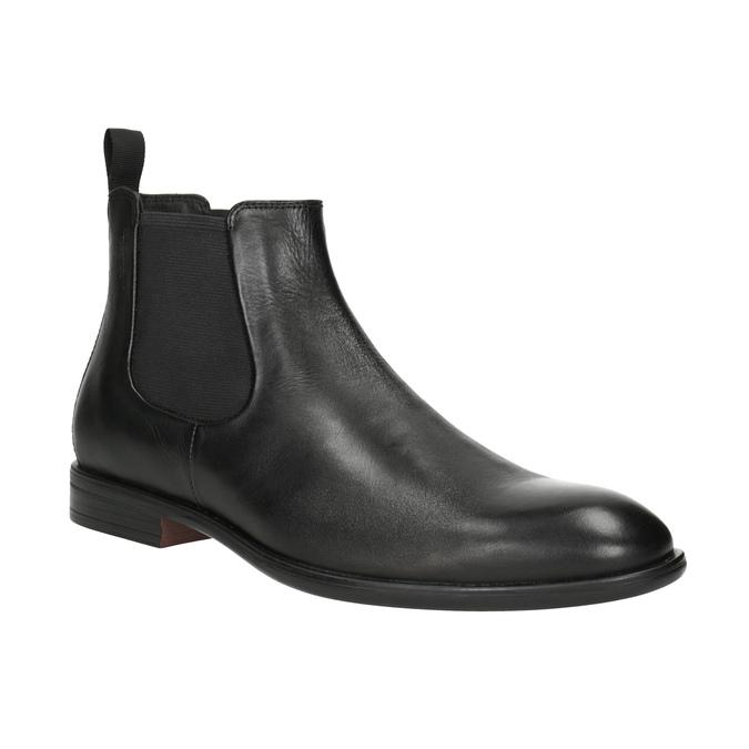 Pánska kožená Chelsea obuv vagabond, čierna, 814-6024 - 13
