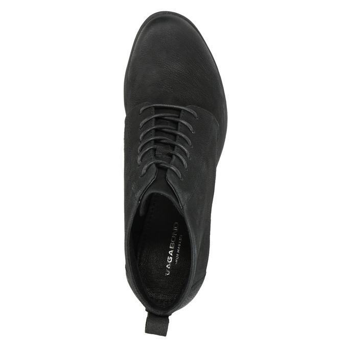 Členková dámska obuv na podpätku vagabond, čierna, 726-6016 - 15