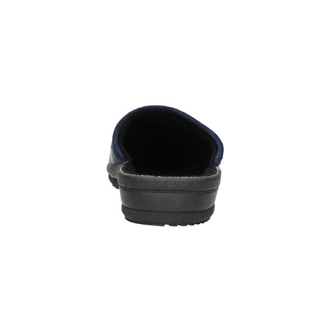 Pánska domáca obuv bata, modrá, 879-9611 - 17