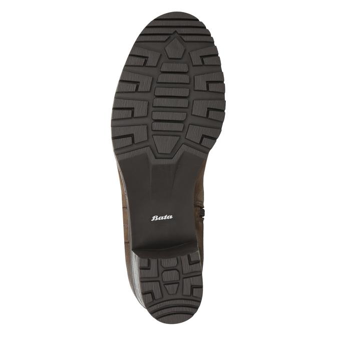 Dámske kožené čižmy bata, hnedá, 696-4649 - 19