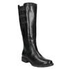 Kožené čižmy s elastickým remienkom bata, čierna, 596-6655 - 13