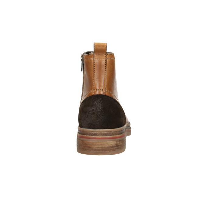 Členková pánska zimná obuv bata, hnedá, 896-3685 - 17