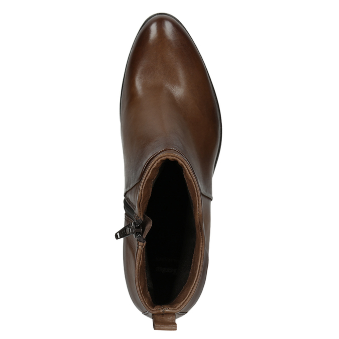 Členkové čižmy na stabilnom  podpätku bata, hnedá, 696-4654 - 15