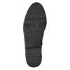 Kožené čižmy s elastickým remienkom bata, čierna, 596-6655 - 19