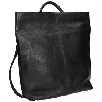 Kožený dámsky batoh bata, čierna, 964-6272 - 13