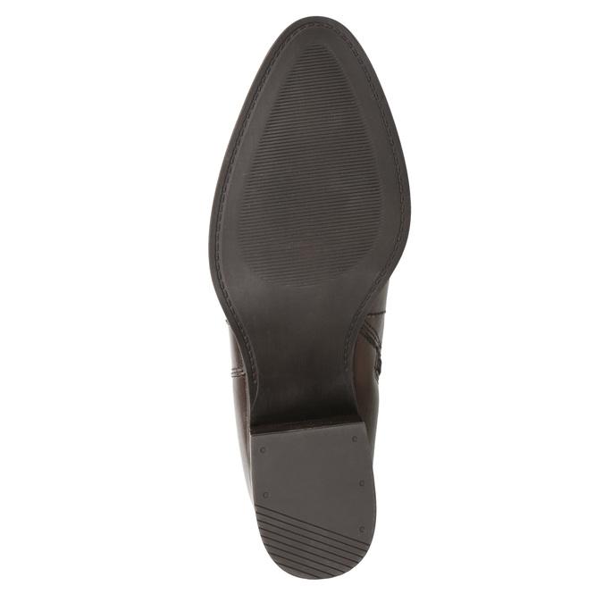 Kožené členkové čižmy s prackami bata, hnedá, 696-4650 - 17