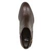 Kožené členkové čižmy s prackami bata, hnedá, 696-4650 - 15