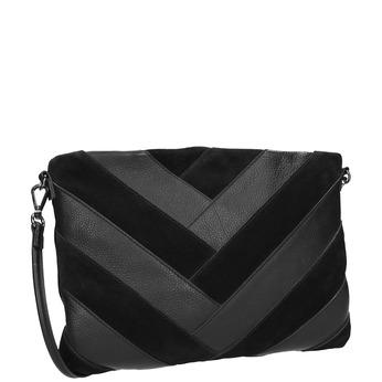 Čierna kožená listová kabelka bata, čierna, 964-6265 - 13