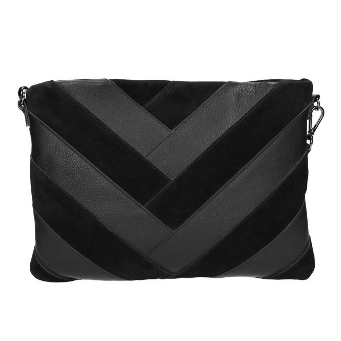 Čierna kožená listová kabelka bata, čierna, 964-6265 - 26