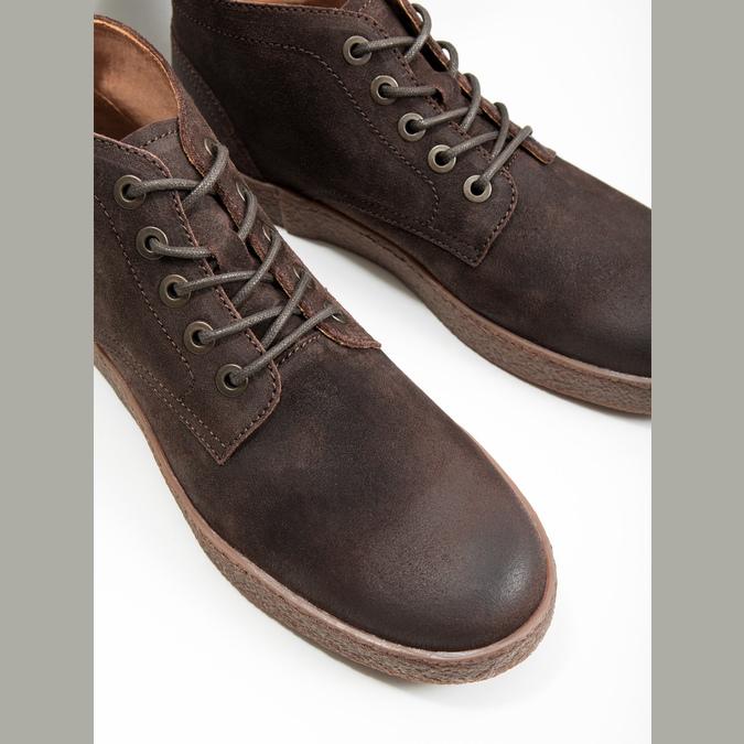 Pánska kožená členková obuv bata, hnedá, 846-4653 - 14